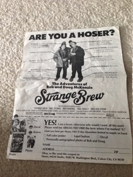 Daily                   Hoser - Strange Brew opening day edition (back)