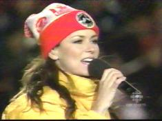 Shania Twain                   with Bob & Doug toque